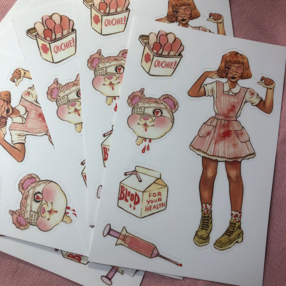 Image of Candy Striper Sticker Sheet (4x6)