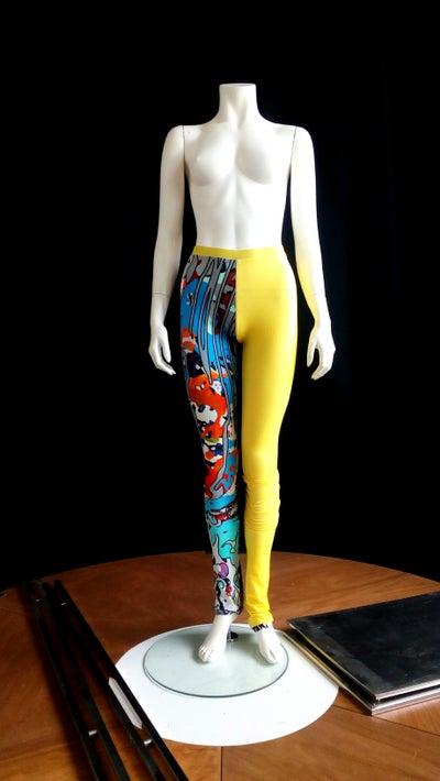 Image of The Stepping Leggings - half printed (yellow)