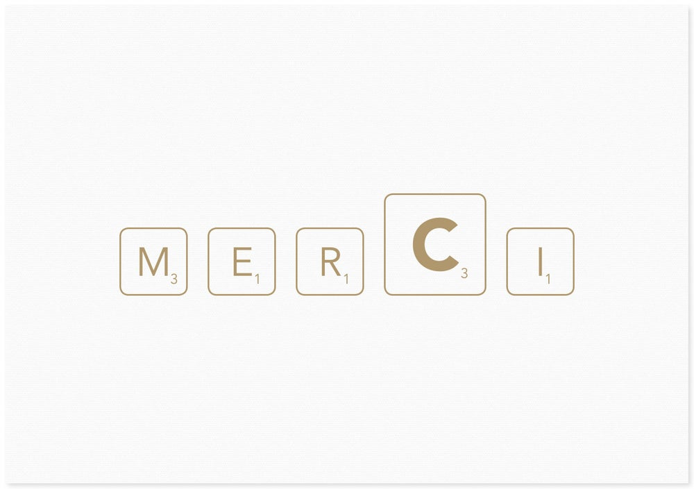 Image of merci | letters