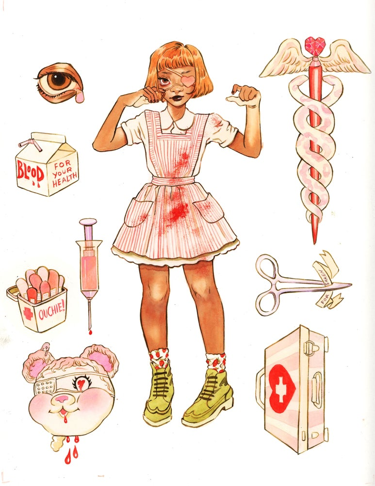 Image of Candy Striper Print (9x12)