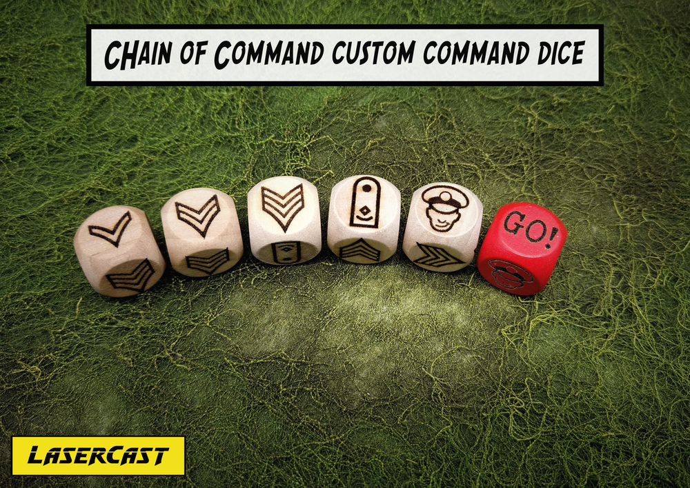 Image of Chain of Command custom command dice