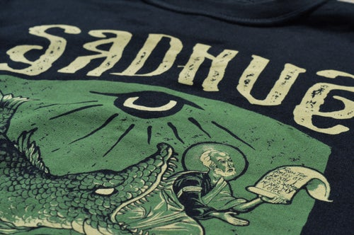 """Image of """"In The Belly of The Beast"""" Sadhus X Filthy Fabric Black T-Shirt"""