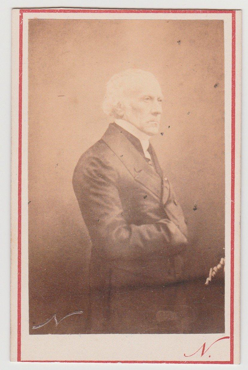 Image of Félix Nadar: portrait of François Guizot, ca. 1865