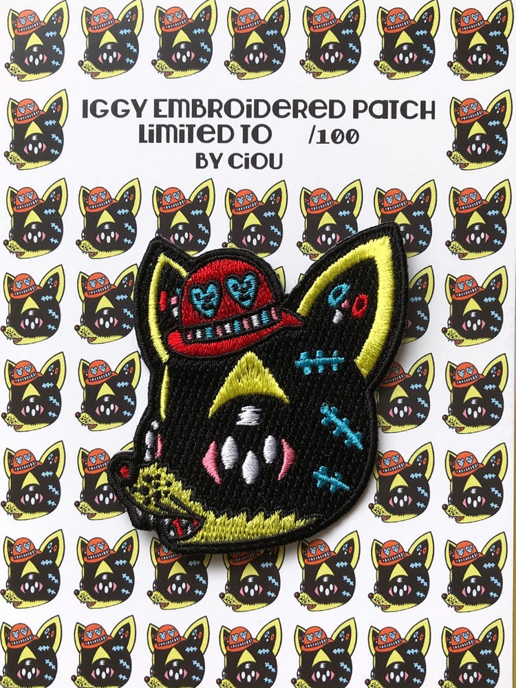 Image of Iggy embroidered patch limited to 100 ex