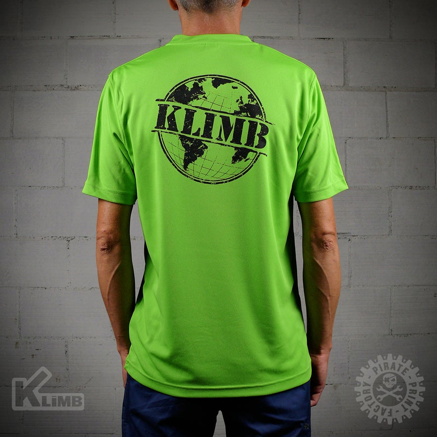 Image of T-SHIRT SPORT GLOBE LIME GREEN