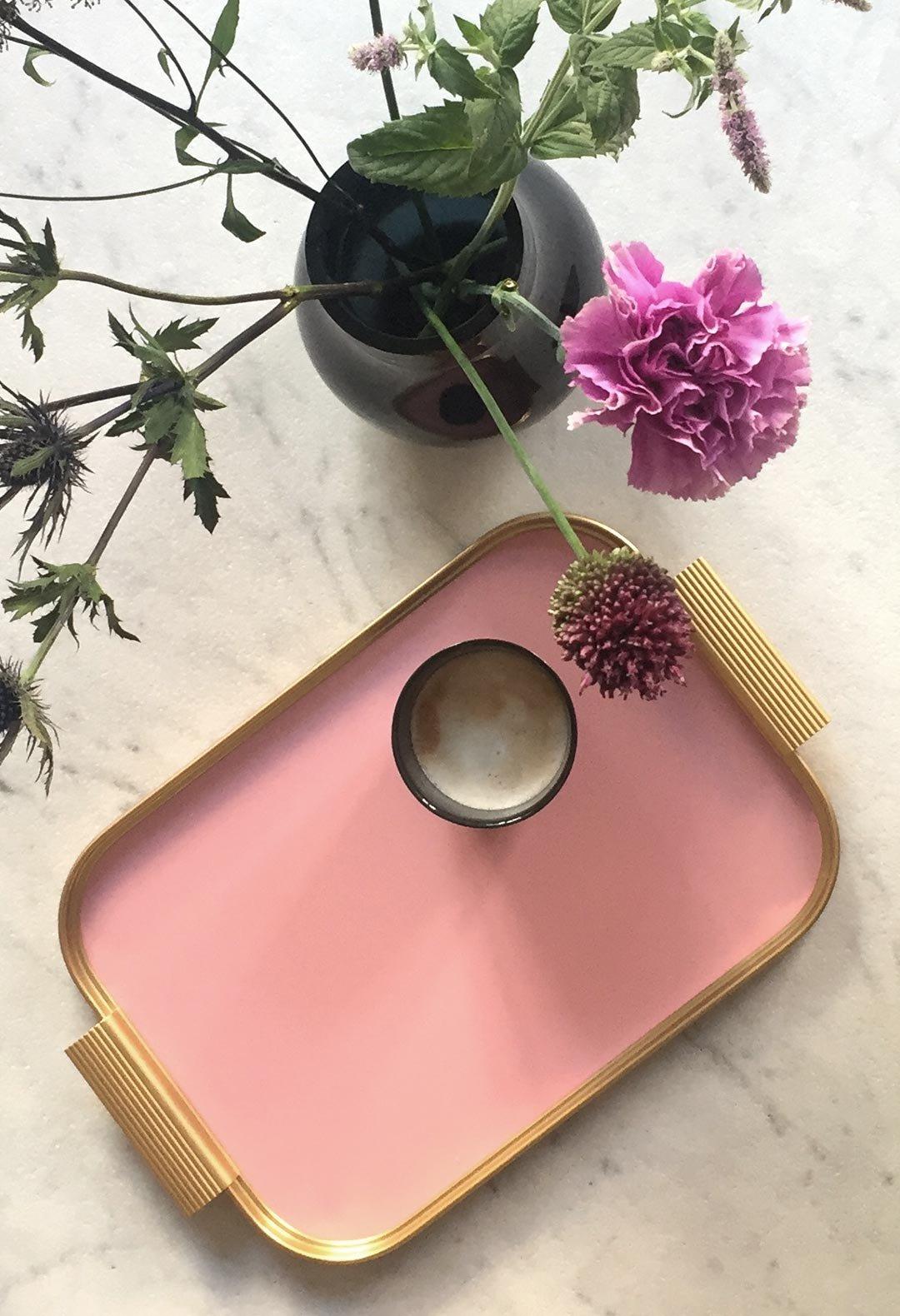 Image of Kaymet Tray Pink/Gold