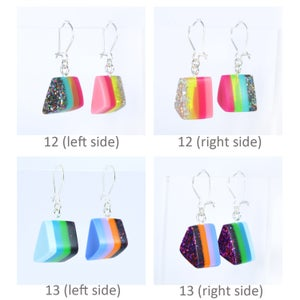 Image of Little Layered Lump Earrings 10 to 13