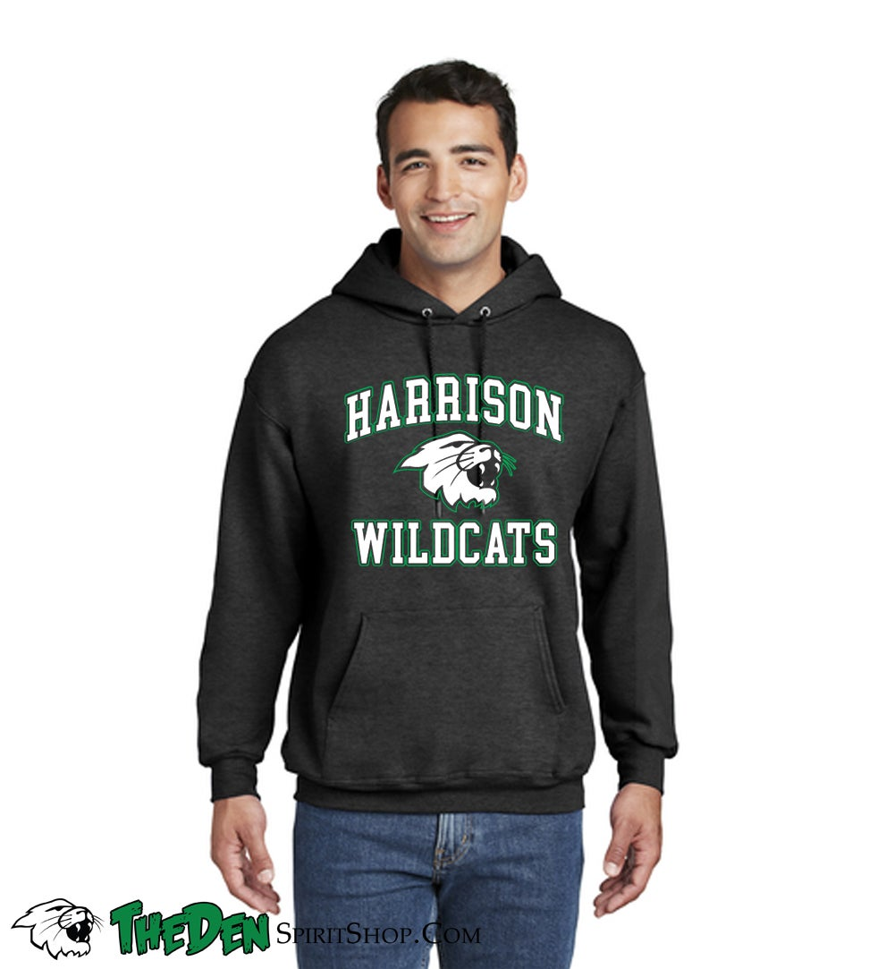 Image of Harrison Wildcats Hoodie, Charcoal Heather