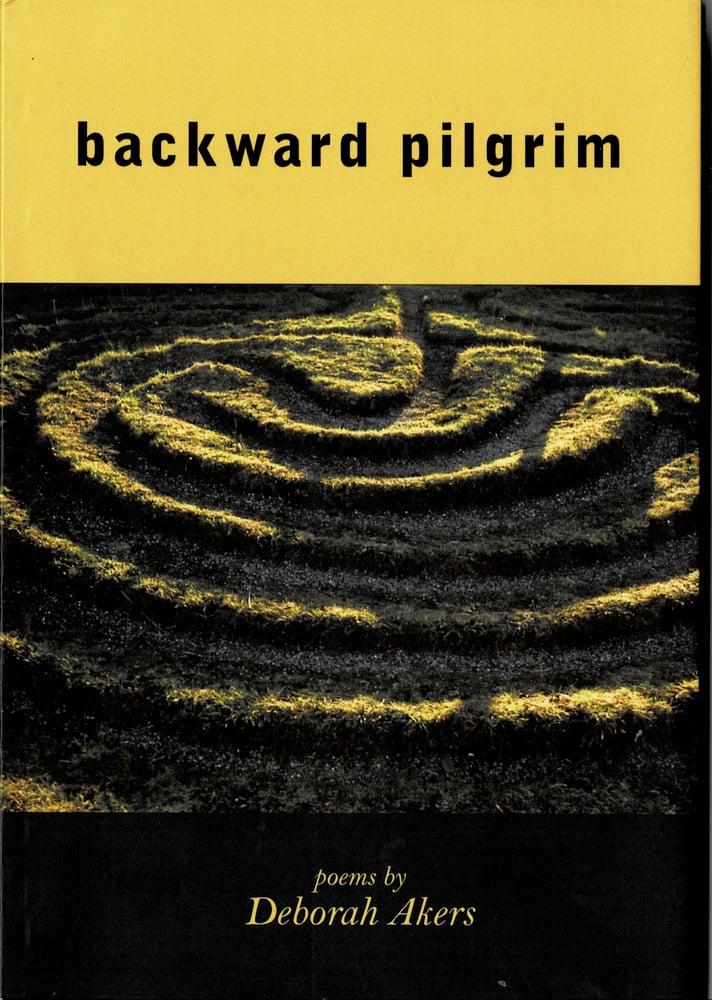 Image of backward pilgrim, by Deb Akers