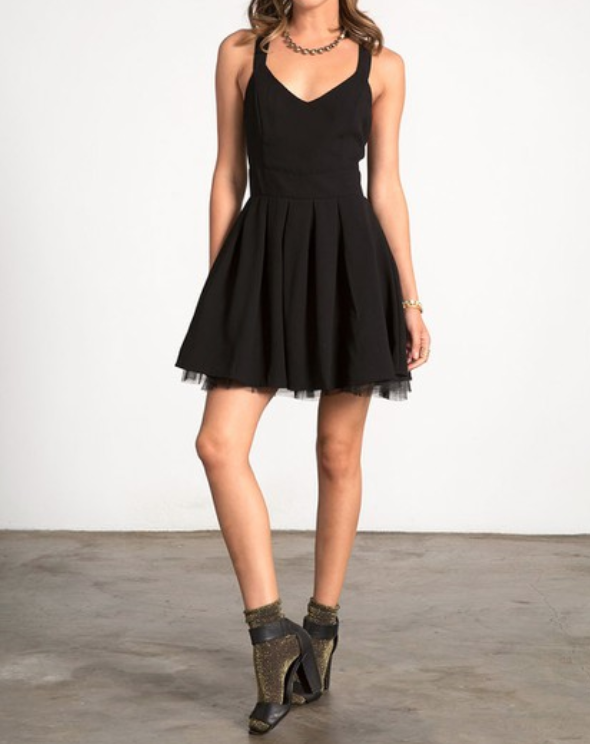 Image of Little Black Bow Dress