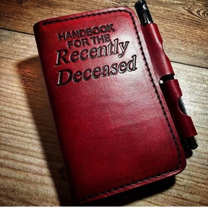 Image of Stamped Leather Notebook Cover