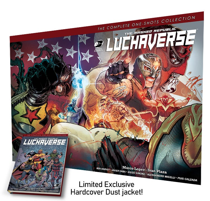 Image of 50% OFF The Masked Republic Luchaverse: The Complete One-Shots Collection (HC)