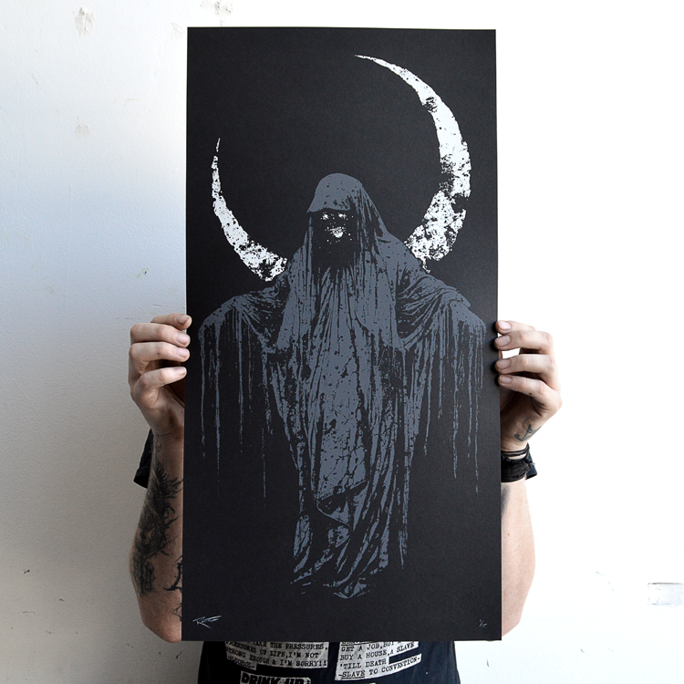 """Image of """"Withering"""" screen print"""