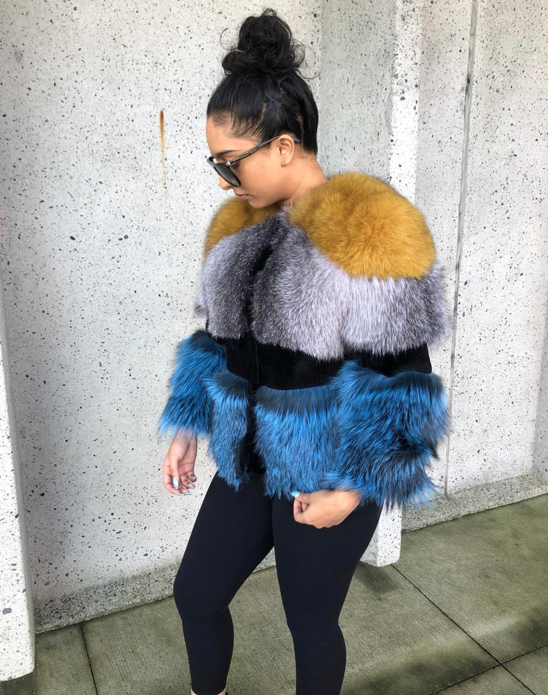 Image of Breeze Fox Fur Coat