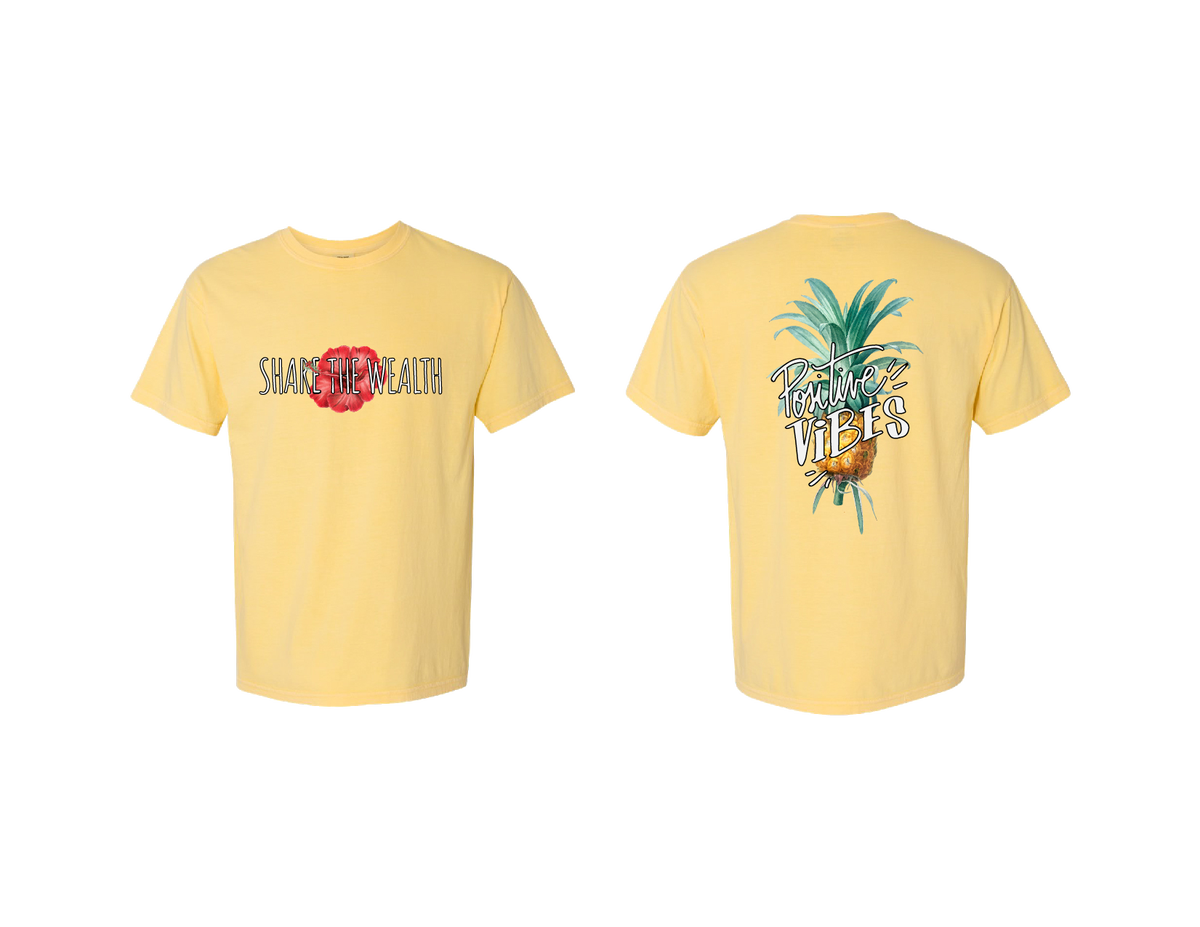 Image of Share The Wealth Summer Shirt (Yellow)