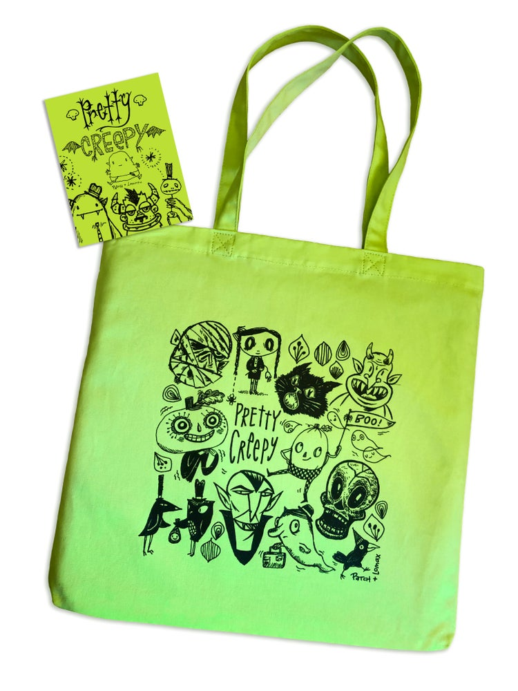 Image of Pretty Creepy Tote with FREE Book!