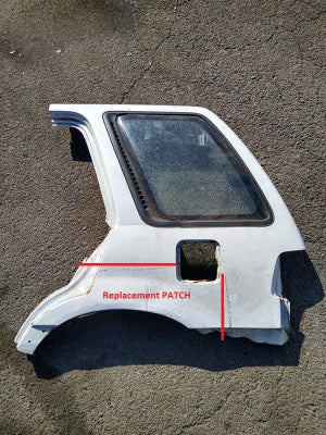 Image of Quarter Panel Replacement PATCH - Civic Wagon