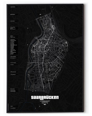 Image of Saarbrücken underground Karte