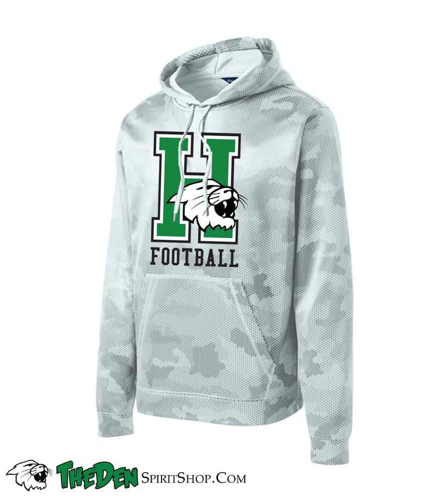 Image of YOUTH, Harrison Football Performance Hoodie, Camo White