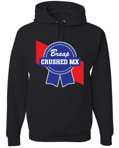 Image of Black Blue Ribbon Hoodie
