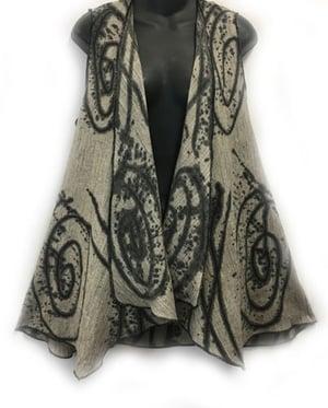 """Image of Drape front Vest - Cotton - Hand Painted """"Exuberance"""" Design."""