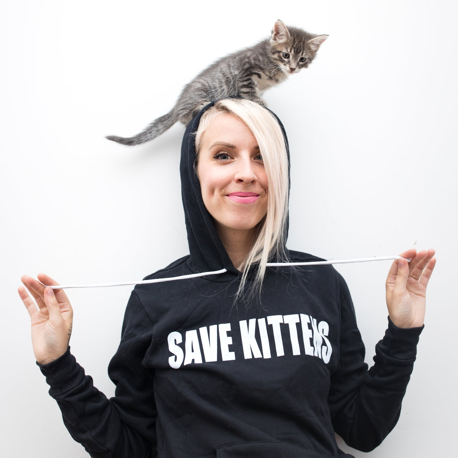 Image of NEW! Save Kittens Hoodie