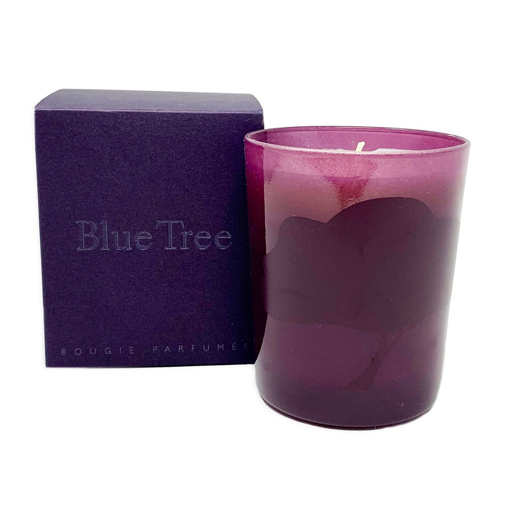 Image of Blue Tree Candle (Multiple Scents)