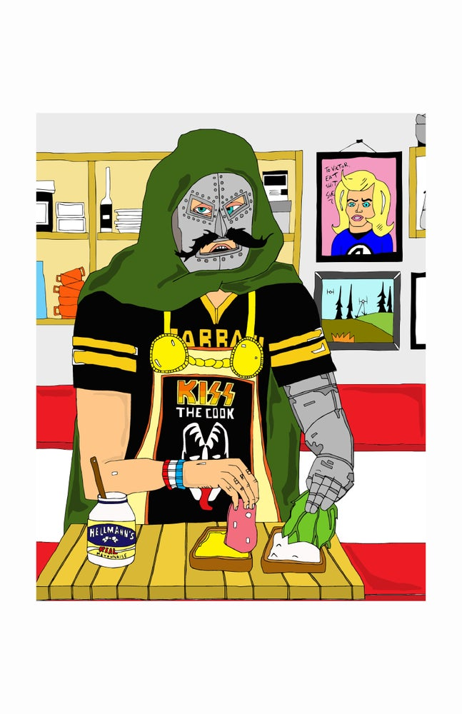 Image of 'Dr.Doom Makes a Sandwich' print