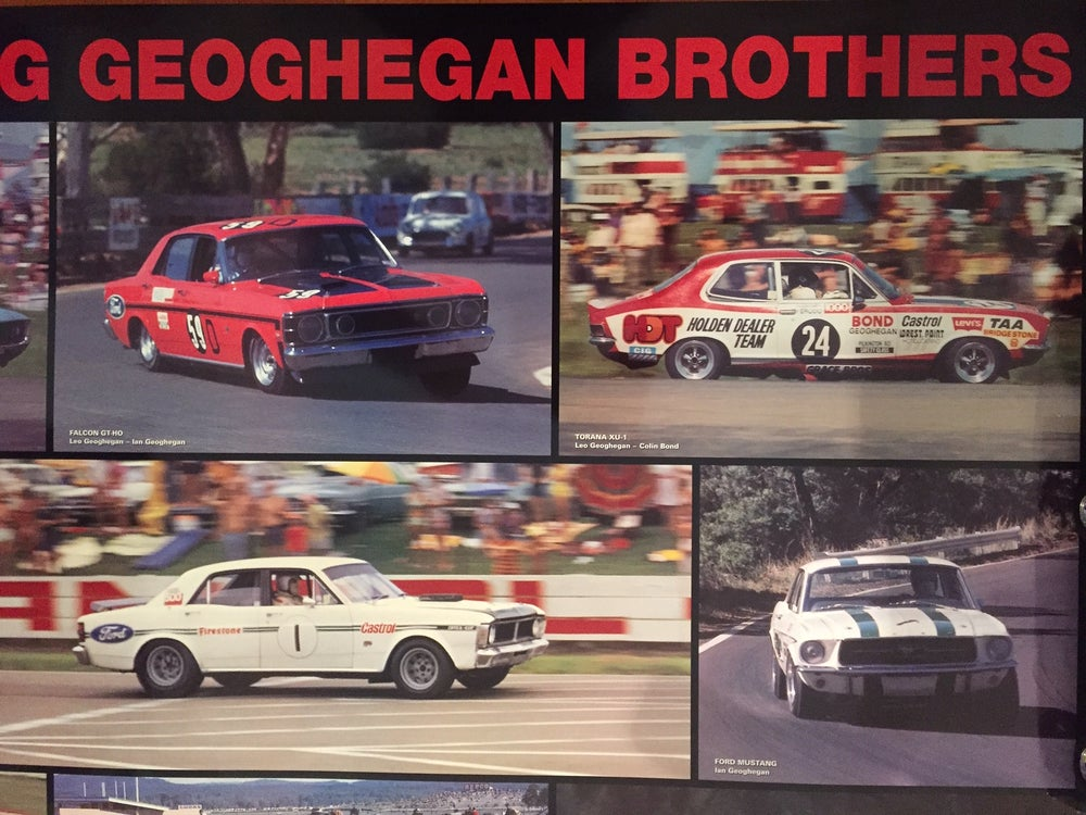 Image of The Racing Geoghegan Brothers. Bathurst, Ford, HDT, Chrysler, Mustang, Super Falcon.