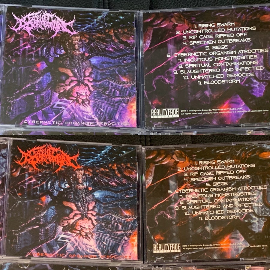 "Image of Facelift Deformation ""Cybernetic Organism Atrocities"" released by Reality Fade Records!!"