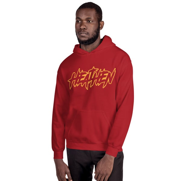 Image of Boondox Heathen Outline Logo Hoodie - Red