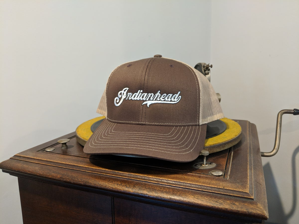 Image of Trucker hat - Brown and Tan with white logo