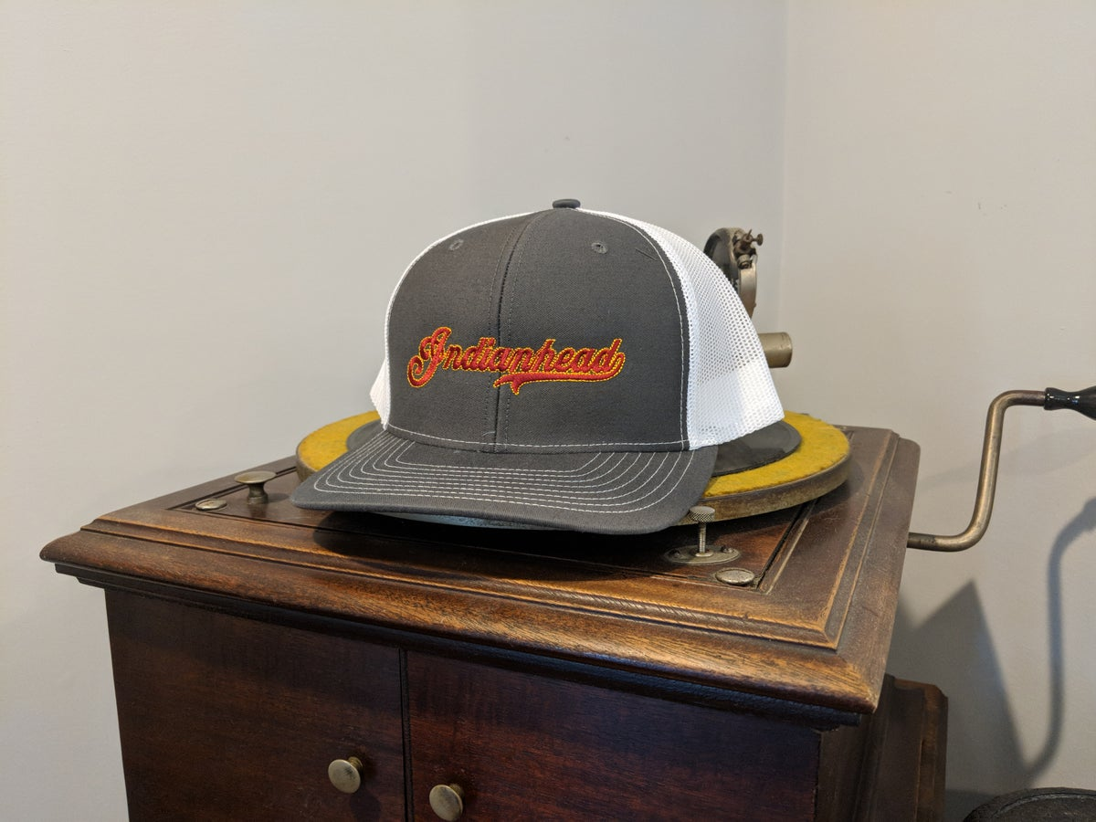 Image of Trucker Hat - Grey with red logo