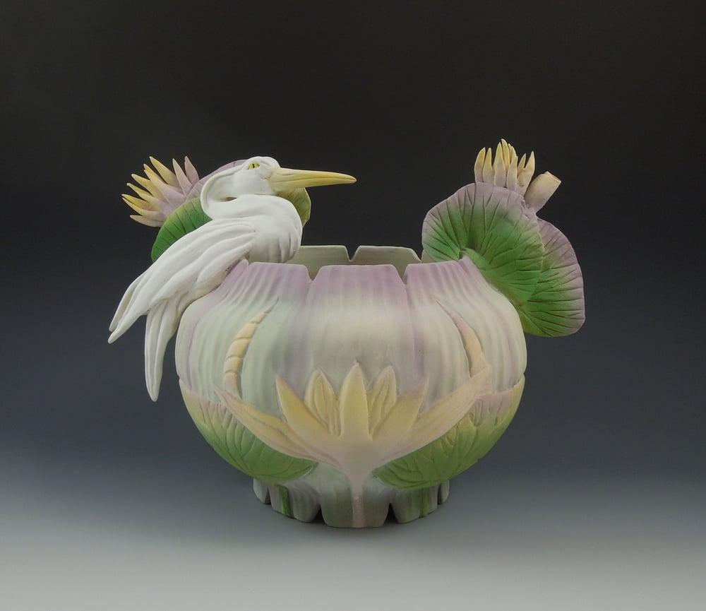 Image of Jade Heron Vessel