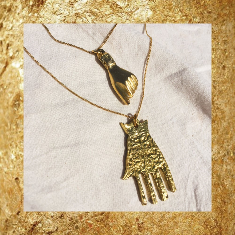 Image of COLLIER LES 2 MAINS PROTECTRICES cuivre