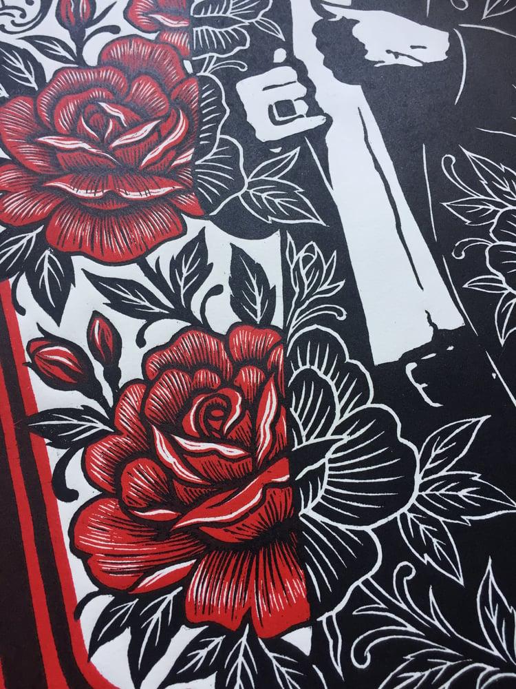 Image of 'Nick Cave' Original Limited Edition Woodblock Print