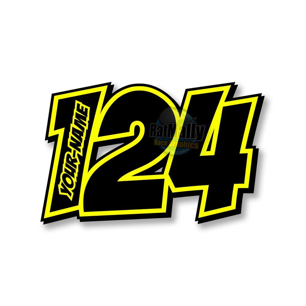 "Image of ""POW Neon 2"" Race Numbers"