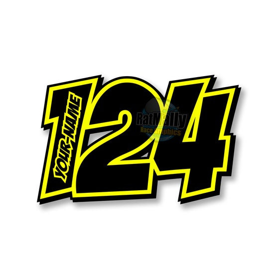 "Image of ""POW Neon 2"" Race Numbers"