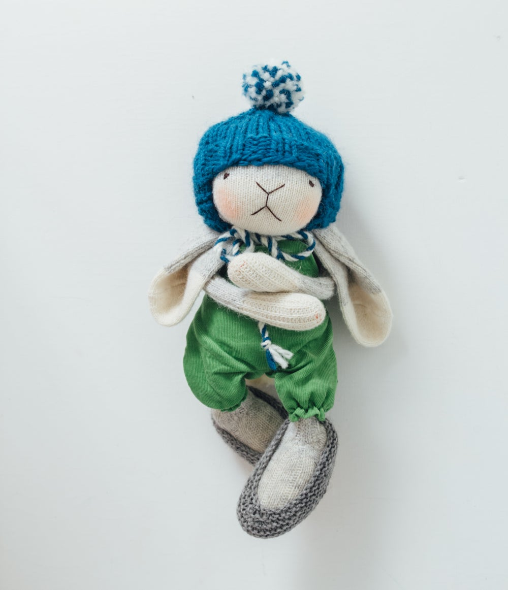 Image of Wilbur - Wool Filled Sock Bunny with weighted bottom