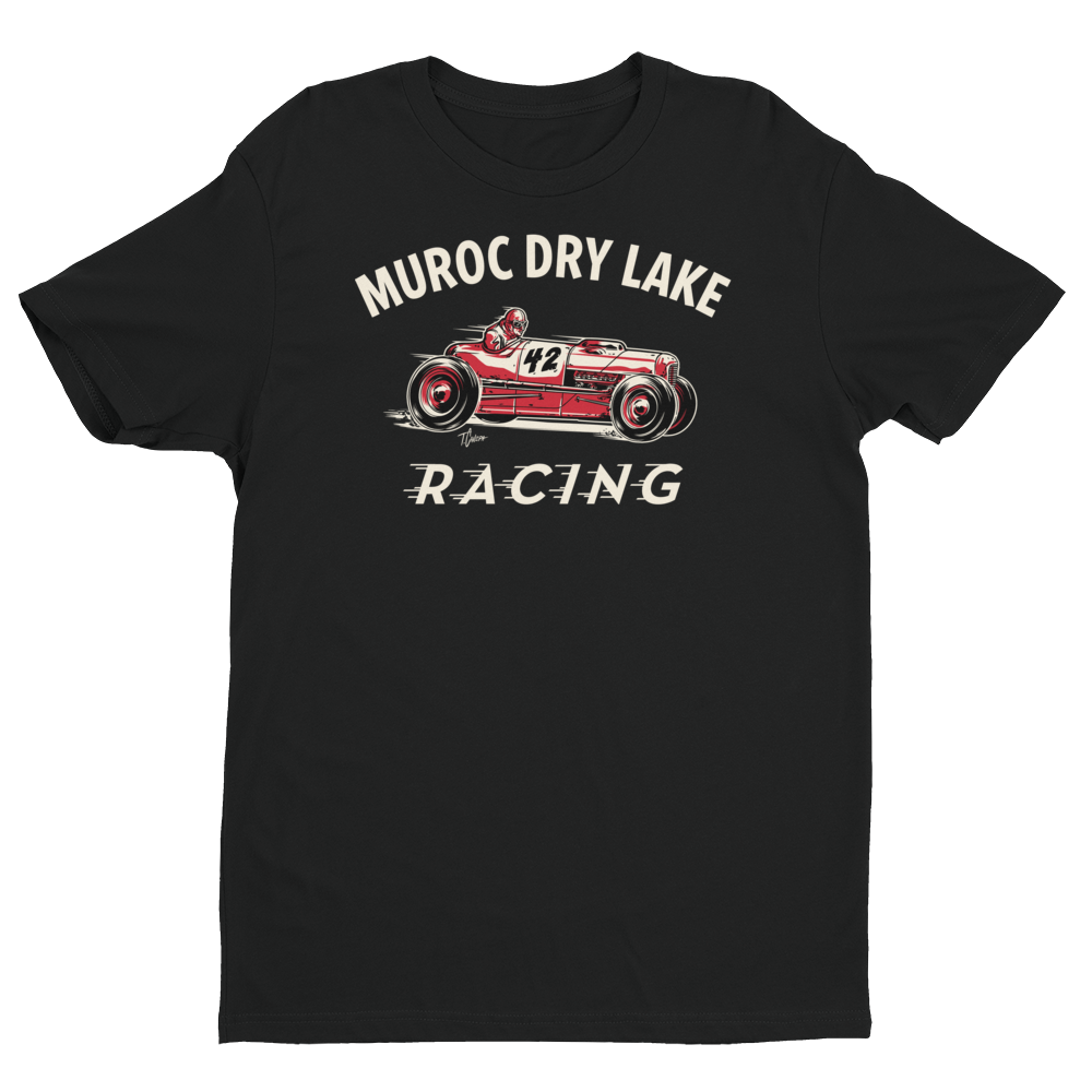 Image of Muroc Dry Lake Racing T-Shirt - BLACK