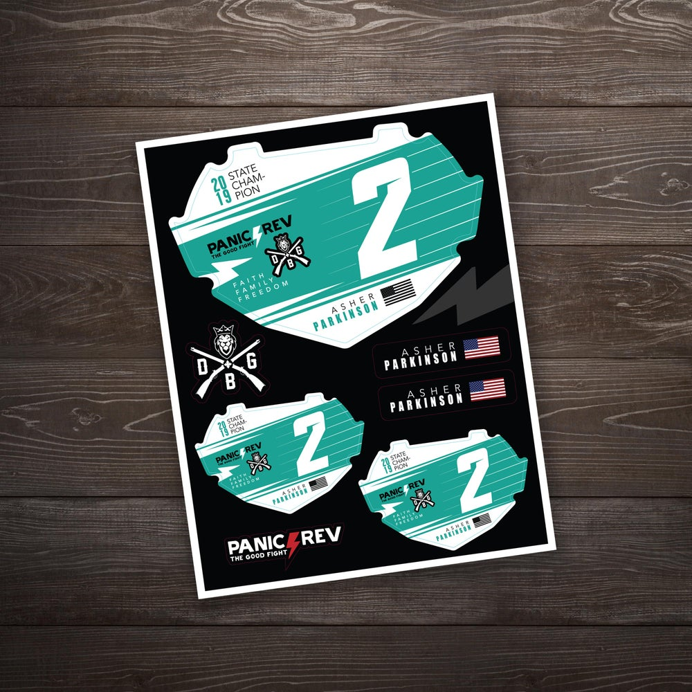 Image of BMX State Number Plate Inserts