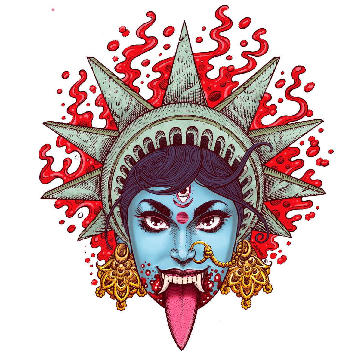 """Image of """"Kali"""" print"""