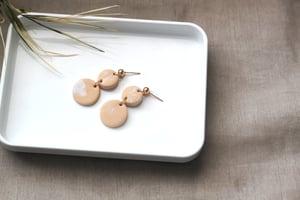 Image of NALAH \\ Peach And Gold Dangle Drop Earrings