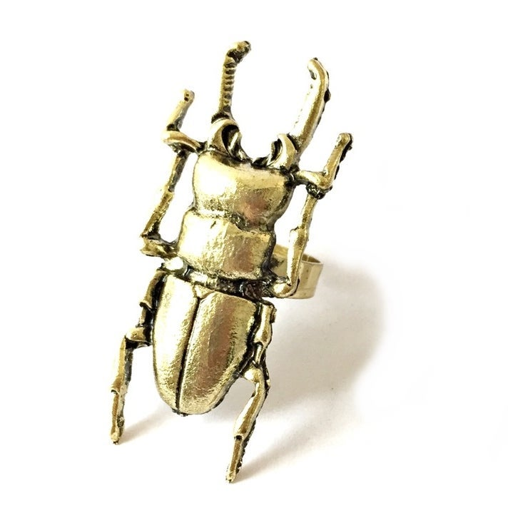 Image of Molten Stag Beetle Ring