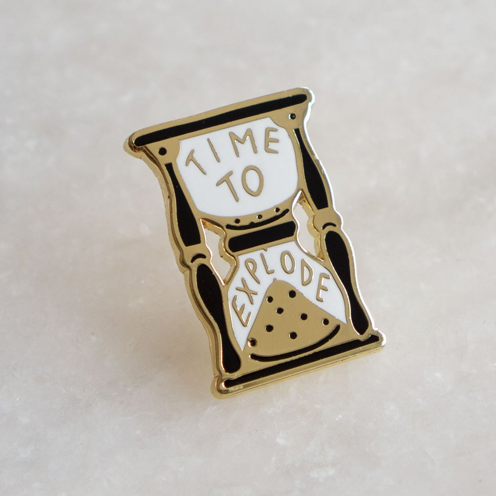 Image of Time to Explode Enamel Pin (Polyvinyl x Stay Home Club Collaboration)