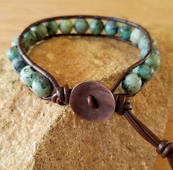 Image of African Turquoise Single Wrap