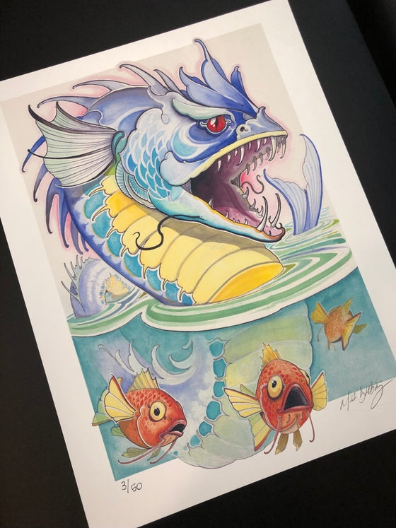 Image of Gyarados and Magikarp