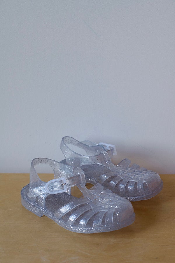 Image of French SunJelly Sandals — Silver Glitter