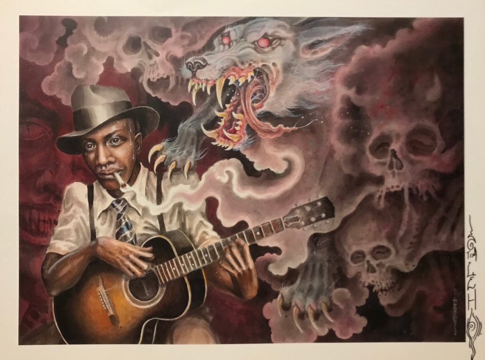 "Image of Tim Lehi ""Hell Hound On My Trail - Robert Johnson"" Signed Poster"