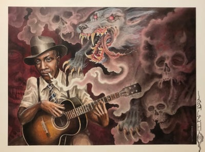 """Image of Tim Lehi """"Hell Hound On My Trail - Robert Johnson"""" Signed Poster"""
